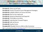 10 principles of effective online teaching best practices in distance education