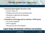 design guideline two cont