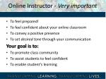 online instructor very important