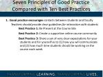 seven principles of good practice compared with ten best practices