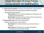 seven principles of good practice compared with ten best practices1