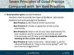 seven principles of good practice compared with ten best practices2