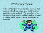 18 th century england