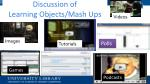 discussion of learning objects mash ups