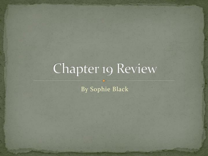 chapter 19 review n.