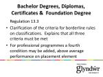 bachelor degrees diplomas certificates foundation degree1