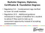 bachelor degrees diplomas certificates foundation degrees