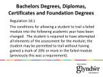 bachelors degrees diplomas certificates and foundation degrees1