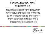 general regulations regulation 5 8