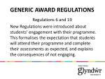 generic award regulations