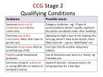 ccg stage 2 qualifying conditions