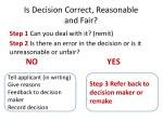 is decision correct reasonable and fair