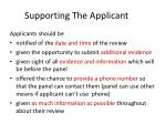 supporting the applicant