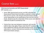 course fees cont5