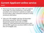 current applicant online service cont1