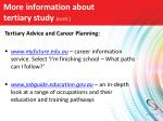 more information about tertiary study cont1