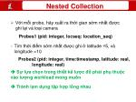 nested collection