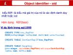 object identifier oid1