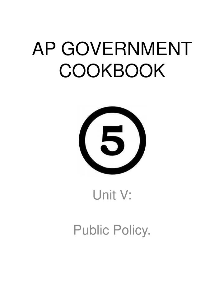 ap government cookbook n.