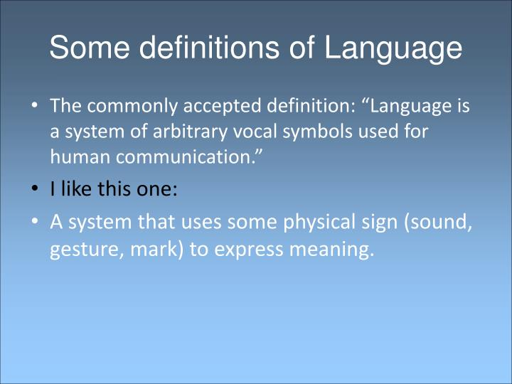 Ppt What Is Language Powerpoint Presentation Id2224944