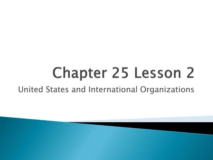 chapter 25 lesson 2 n.