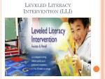 leveled literacy intervention lli