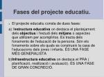 fases del projecte educatiu