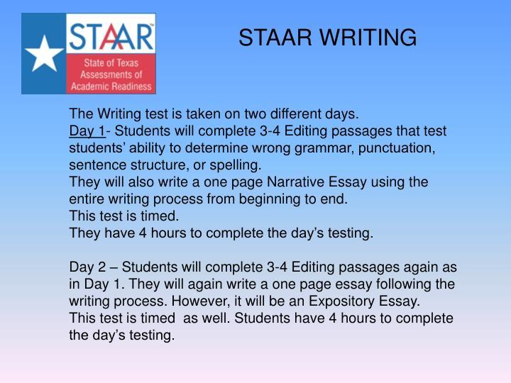 STAAR WRITING