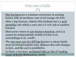 outcome of falls