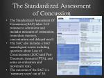 the standardized assessment of concussion