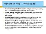 prevention hub what is it
