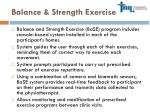 balance strength exercise