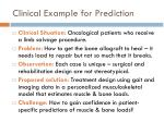 clinical example for prediction