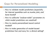 gaps for personalized modeling