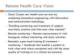 remote health care vision
