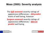 moss 2005 severity analysis