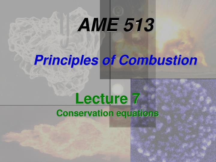 ame 513 principles of combustion n.