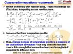 conservation equations comments1