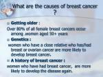 what are the causes of breast cancer
