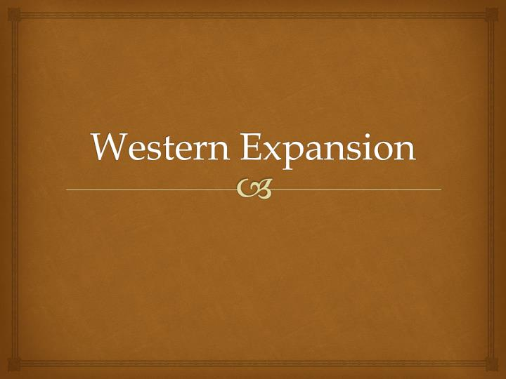 western expansion n.