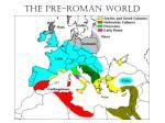 the pre roman world