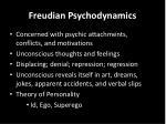 freudian psychodynamics