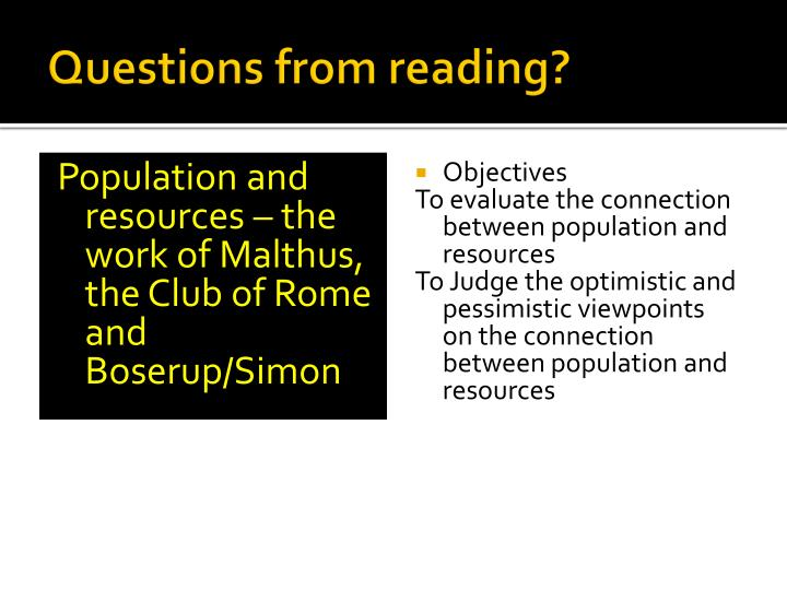 questions from reading n.