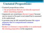 unstated propositions