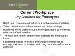 current workplace implications for employers
