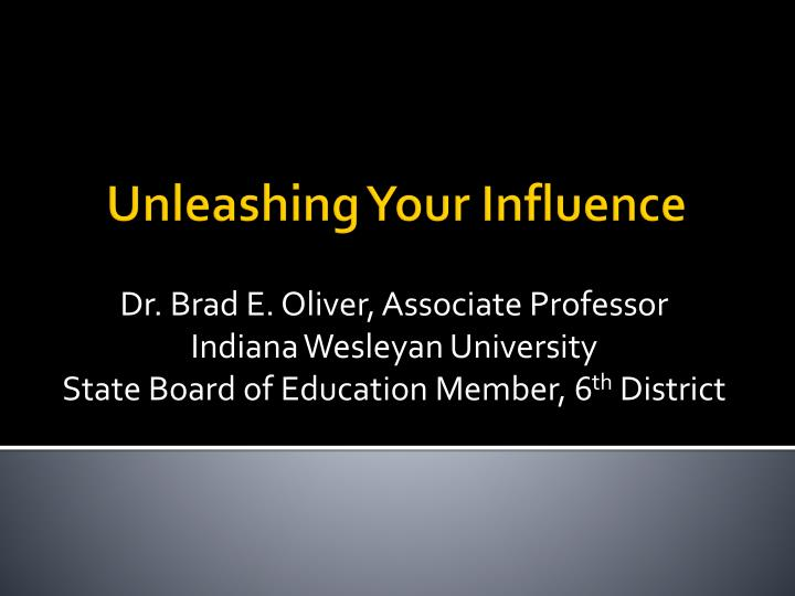 unleashing your influence n.
