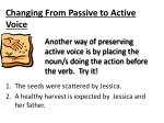 changing from passive to active voice