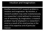 intuition and imagination