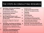 the steps in conducting research1