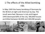 1 the effects of the allied bombing rids